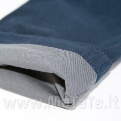 Velvetinės kelnės su plonu trikotažiniu pamušalu