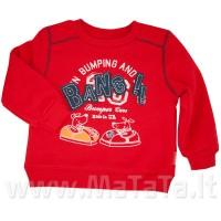 Šiltas džemperiukas (su pūkeliu) raudonas
