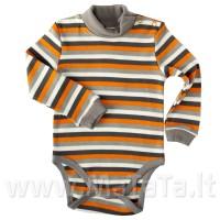 Šiltas smėlinukas-golfas dryžuotas(oranžinė)