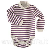 Šiltas smėlinukas-golfas dryžuotas(violetinė)