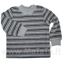 Veliūrinis džemperiukas su atsegamu kakliuku