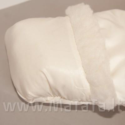Šiltas žieminis kombinezonas - vokelis (pieno spalvos)