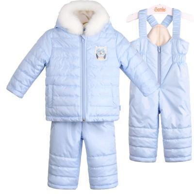 Žieminis kombinezonas kūdikiui (meslvas,rausvas ir pieno spl.)