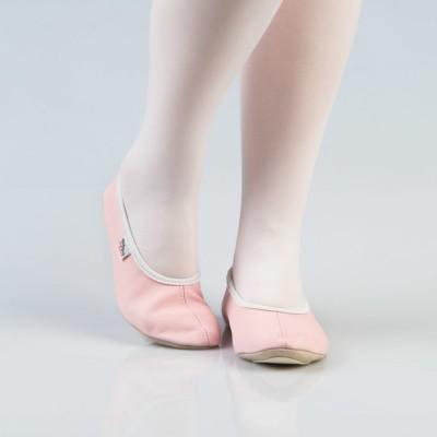 Rausvi šokių - gimnastikos bateliai