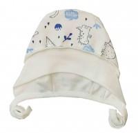 Šilta (su pūkeliu) kepurė kūdikiui Dino
