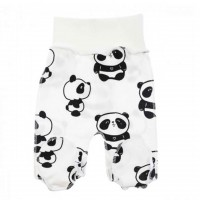 Kelnytės naujagimiui išvirkščiom siūlėm Panda