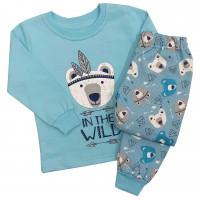 Vaikiška pižama su pūkeliu WILD