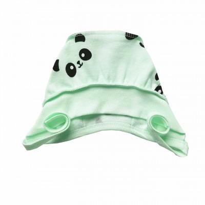 Šilta (su pūkeliu) kepurė kūdikiui Panda (mėta)