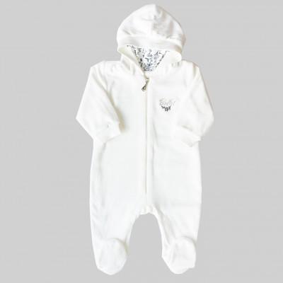 Veliūrinis kombinezonas kūdikiams Ballet (baltas)