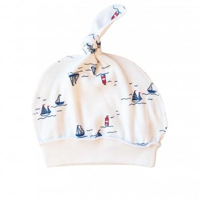 """Kepurė kūdikiui  """"Laiveliai"""""""