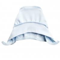 Šilta (su pūkeliu) kepurė kūdikiui (melsva)