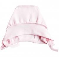 Šilta (su pūkeliu) kepurė kūdikiui (rausva)