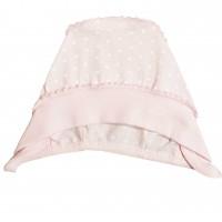 Kepurė kūdikiui išvirkščiom siūlėm (rausva)