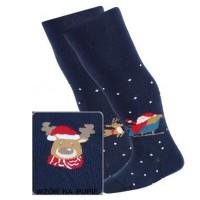 Kalėdinės pėdkelnės kūdikiams (mėlynos)