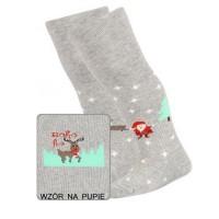 Kalėdinės pėdkelnės kūdikiams (pilkos)