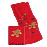 Kalėdinės pėdkelnės kūdikiams (raudonos)
