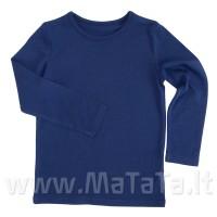 Ilgarankoviai marškinėliai (tams. mėlyna)