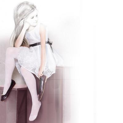 """Baltos spalvos, puošnios pėdkelnės """"Ania"""""""