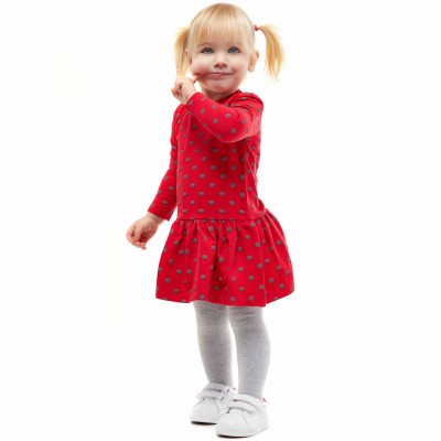 Can Go suknelė Taškeliai (raudona)