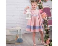 Can-GO veliūrinė rožinė suknelė