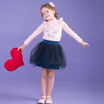 CanGo sijonas (Tamsiai mėlynas/Su tiuliu)
