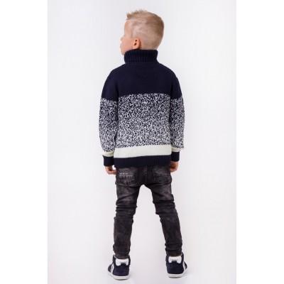 Stilingas megztinis aukštu kaklu su vilna berniukui