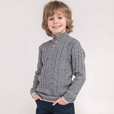 Megztinis aukštu kaklu su vilna berniukui