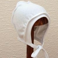 Lorita balta trikotažinė kepurė kūdikiui