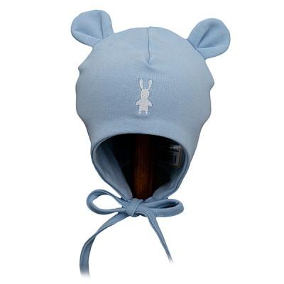 Lorita trikotažinė kepurė kūdikiui (melsva)
