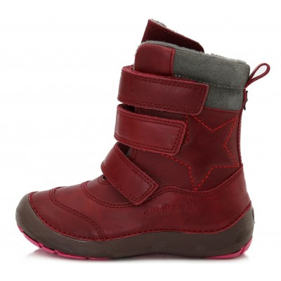 Raudoni batai su pašiltinimu 25-30 d.023809DM