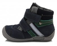 Tamsiai mėlyni Barefeet batai su pašiltinimu 20-24 d. 01841