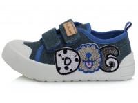 Mėlyni canvas batai 20-25 d. CSB137A