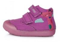 Violetiniai Barefeet canvas batai 20-25 d. C066371A