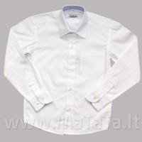 Balti marškiniai berniukui ilgomis rankovėmis.