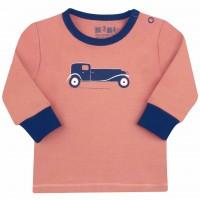 Nini organinės medvilnės marškinėliai berniukui Old Car