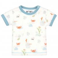 Nini organinės medvilnės marškinėliai berniukui Krabas