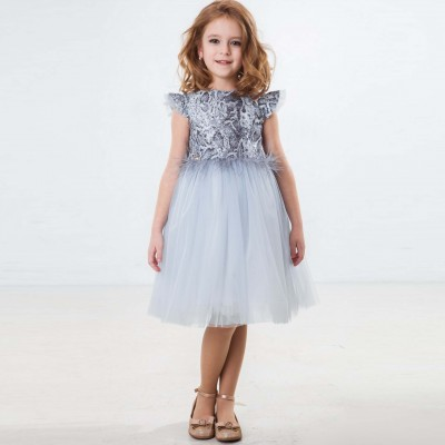 Suknelė Alessa (Pilka/melsva)