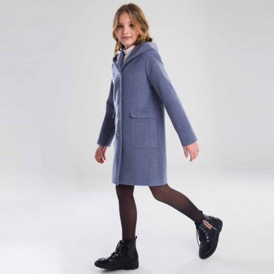 Paltas mergaitei Feit (pilka/melsva)