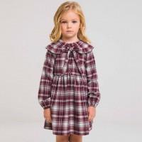 Šilta puošni suknelė mergaitei  Aisedora (bordinė)
