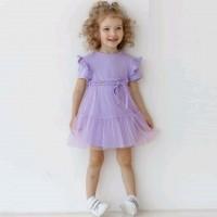 Trikotažinė suknelė mergaitei Leja (alyvinė)