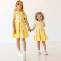 Trikotažinė suknelė mergaitei Jaroslava (geltona)