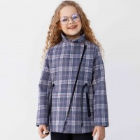 Demisezoninis paltas mergaitei Džordana (violetiniai lang.)