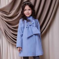 Paltas mergaitei LILI (melsvas)