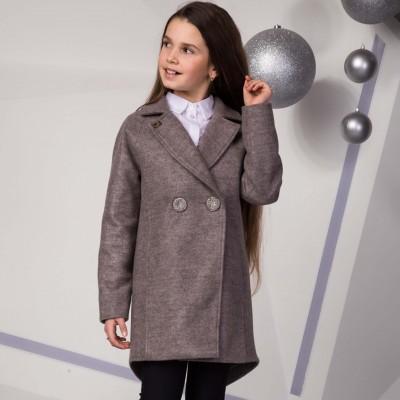 Paltas mergaitei Arija (rudas)