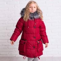 Žieminė striukė-paltas Helga (marsala)