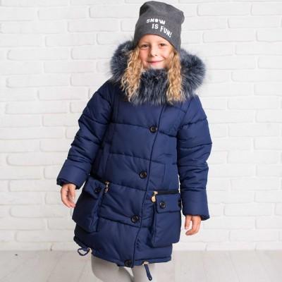 Žieminė striukė-paltas Helga (mėlyna)