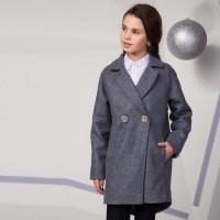 Paltas mergaitei Arija (pilkai melsvas)