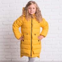 Žieminė striukė-paltas Deizi (geltona)
