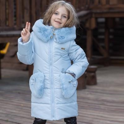 Žieminė striukė-paltas Tinki (melsva)