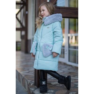Žieminė striukė-paltas Tinki (mėtinė)